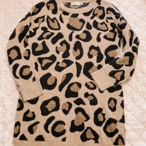RD style Leopard sweater dress